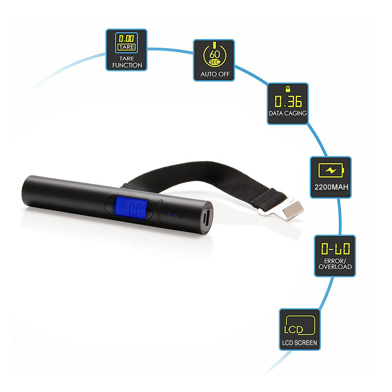 Portable Digital Luggage Scale With Power Bank
