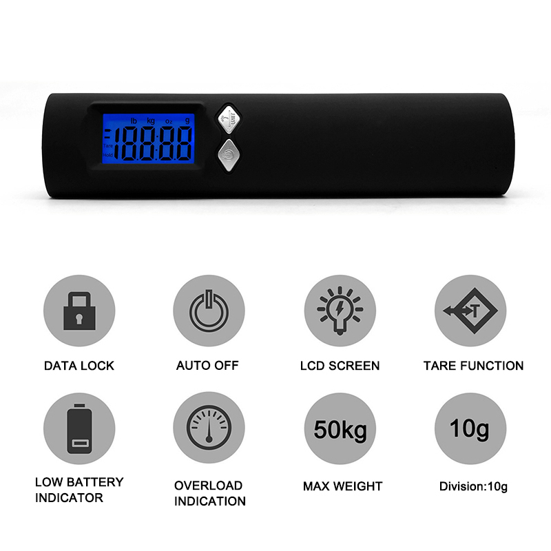 2600Mah Power Bank Digital Luggage Scale With Flashlight