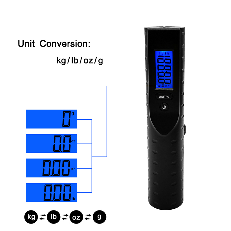Portable Digital Luggage Scale With 3000mah Charge Power Bank